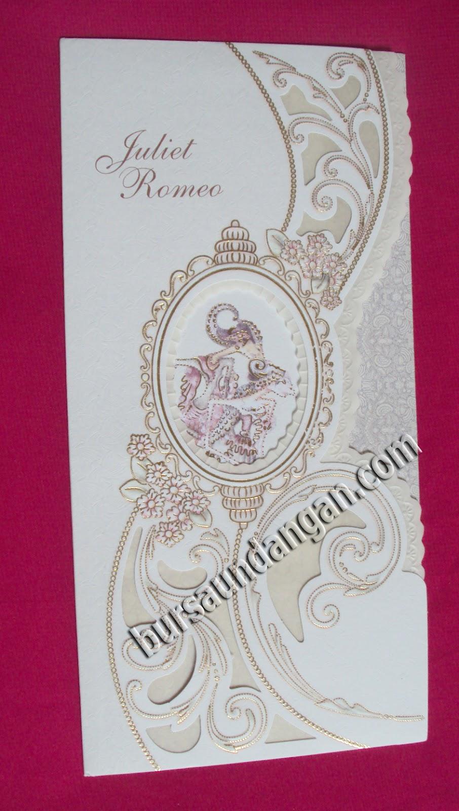 Kartu Undangan Pernikahan Model Wayang - Kode TBZ 179003