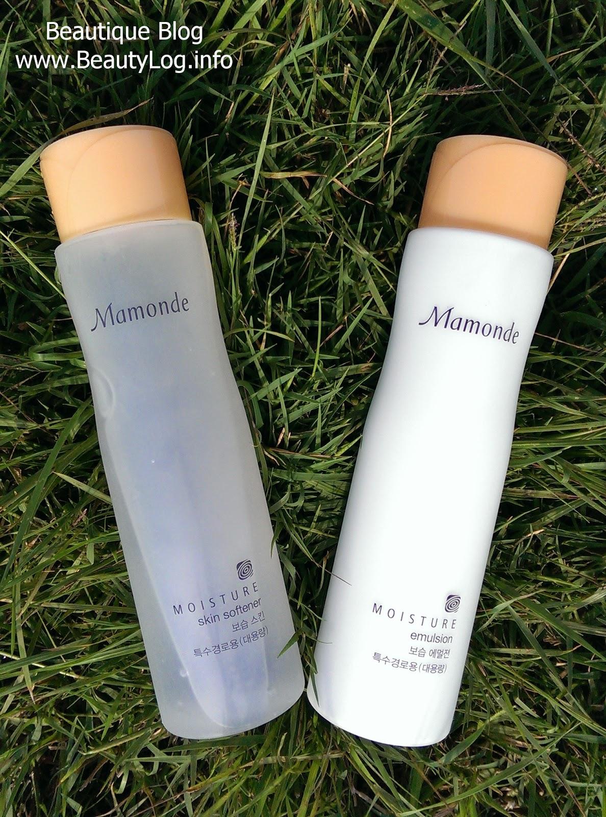 Mamonde Moisture Skin Softener (тонер) и Mamonde Moisture Emulsion (эмульсия)