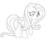 #10 Fluttershy Coloring Page