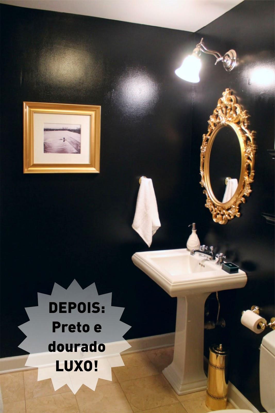 Por isto trouxe aqui um ANTES E DEPOIS de um banheiro super charmoso  #9A6A31 1067x1600 Banheiro Antigo Antes E Depois