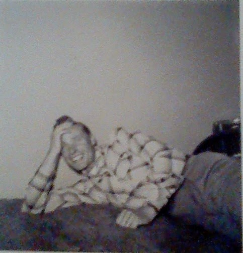 My grandpa, smiling as he so often did.