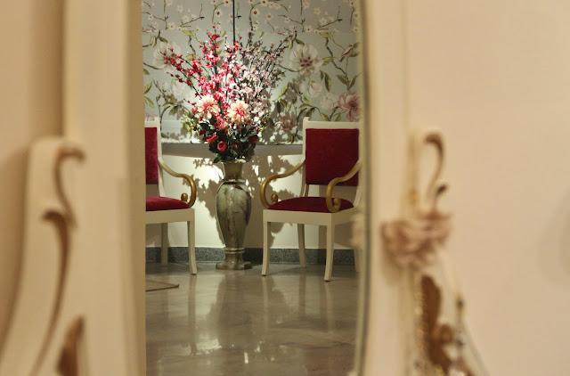 mirror image, LBD, flowers, floral prints, India, Bangalore fashion