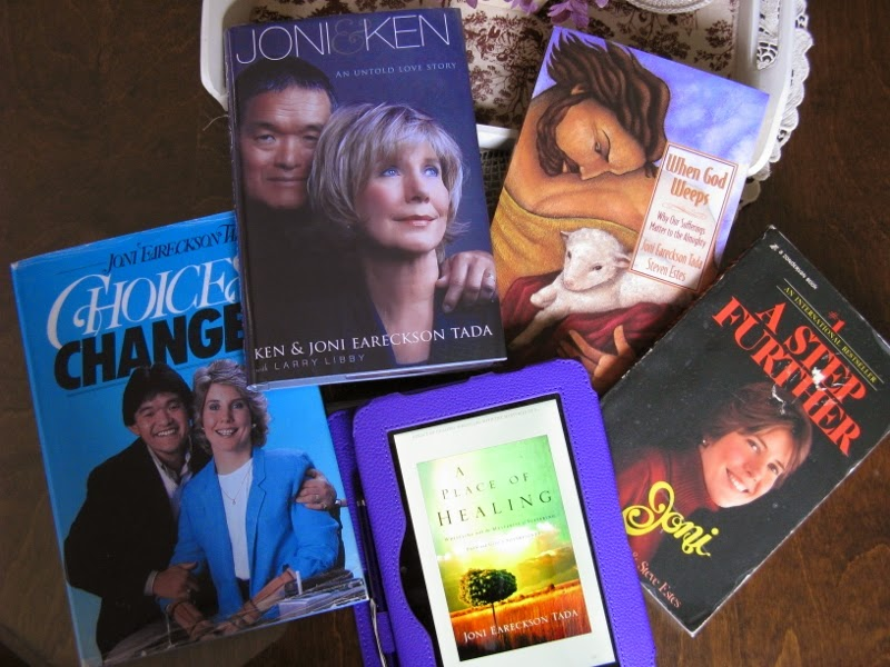 Just a few of my favorite books by Joni Eareckson Tada