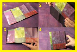 Recilamos cajas de CD para hacer estuche para sombras