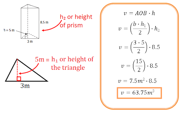 Prism Surface Area – Surface Area of Triangular Prisms Worksheet