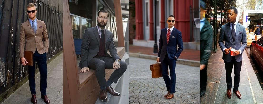 Mmajuscules comment bien s 39 habiller au travail - Costume gris chaussure marron ...