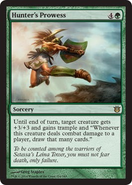 Magic the Gathering green sorcery pump card draw