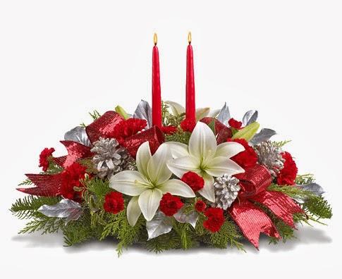 Centros de mesa de navidad con flores parte 3 for Centros navidenos con velas
