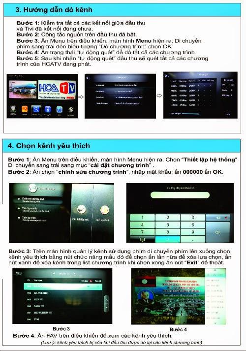 Hướng dẫn sử dụng đầu thu HD mới của HCATV