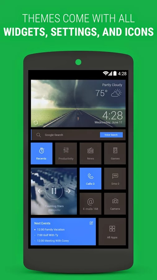 Themer: Launcher, HD Wallpaper v1.76