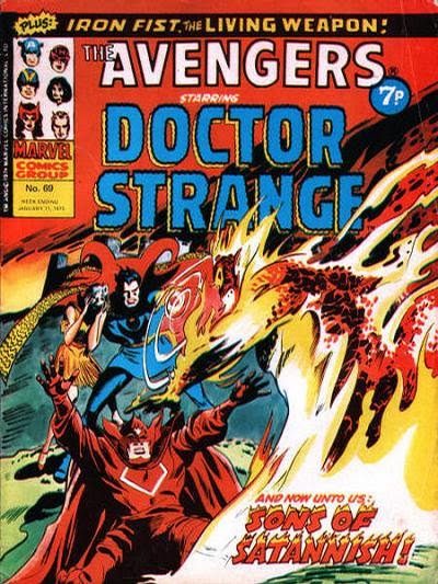 Marvel UK Avengers #69, Dr Strange, Sons if Satannish