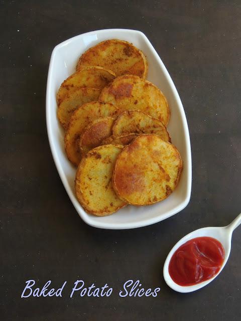 Potato slices-Baked Version