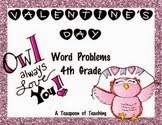 Valentine's Day Multi-Step Word Problems