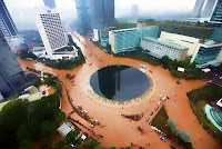 Foto Banjir Jakarta Via Instagram