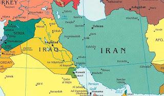peta wilayah irak iran