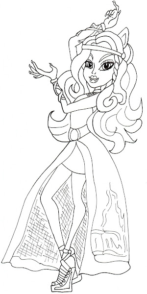 baby draculaura coloring pages - photo#18