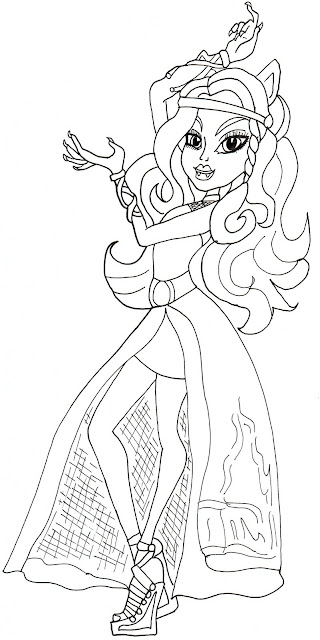 monster high gigi coloring pages - photo#33