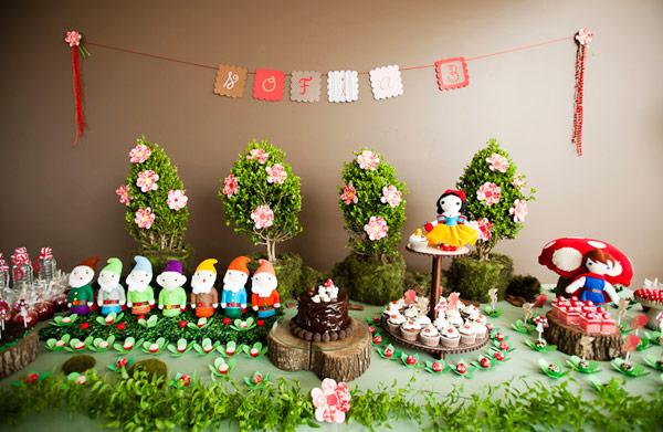 decoracao aniversario infantil branca de neve : decoracao aniversario infantil branca de neve:Mesa Decoracao De Aniversario Infantil