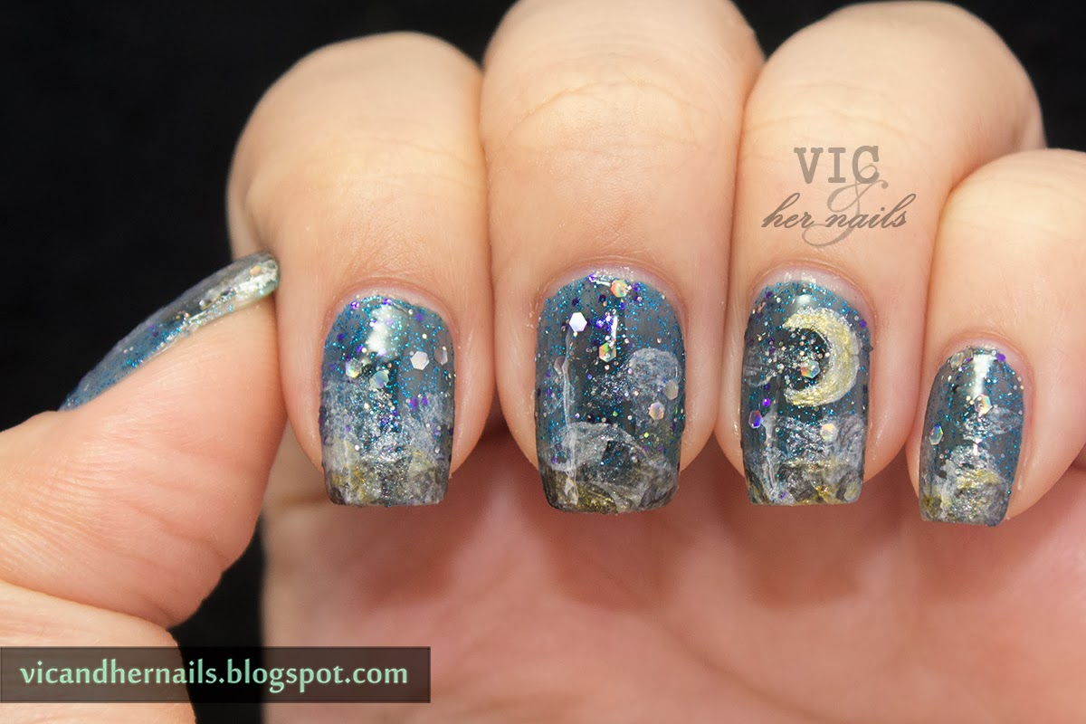 Vic and Her Nails: #NAGGDay10 - Night Sky