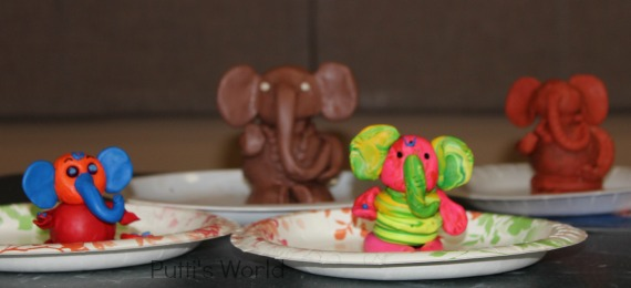 DIY Clay Ganesha Kids