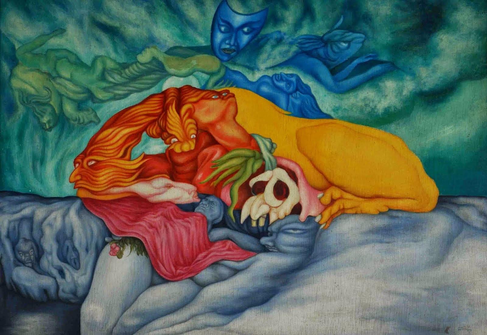 Hungryalist artist Anil Karanjai's painting