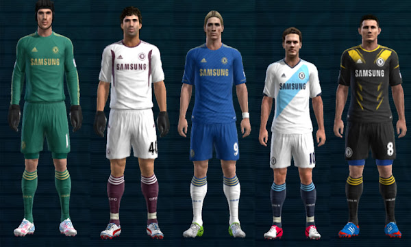 PES 2012 Kits Chelsea FC 2012/13 v2 Techfit by Ramz
