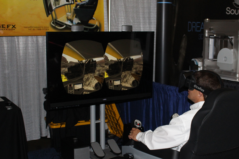 Training Simulator with Virtual Reality Head-Mounted Display