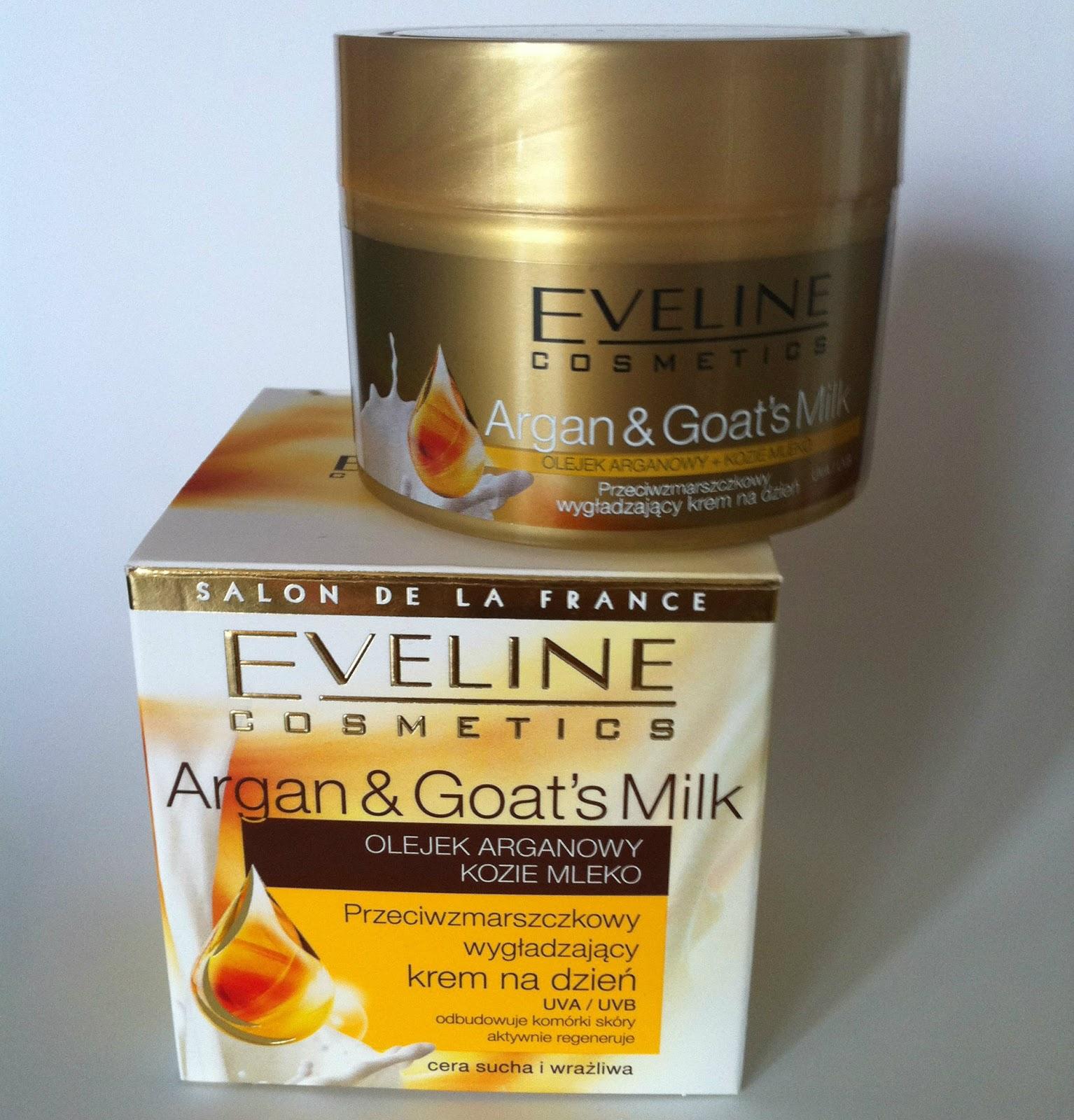 Krem przeciwzmarszczkowy Argan & Goat's Milk od Eveline Cosmetics.