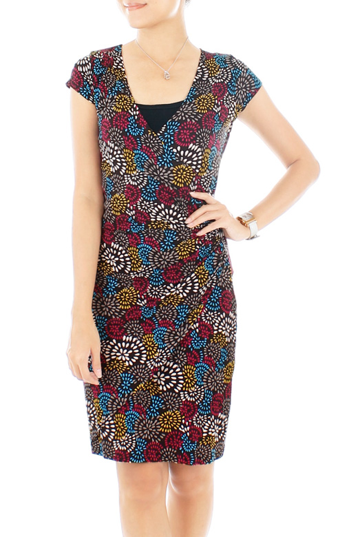 Fireworks Joy Wrap Dress