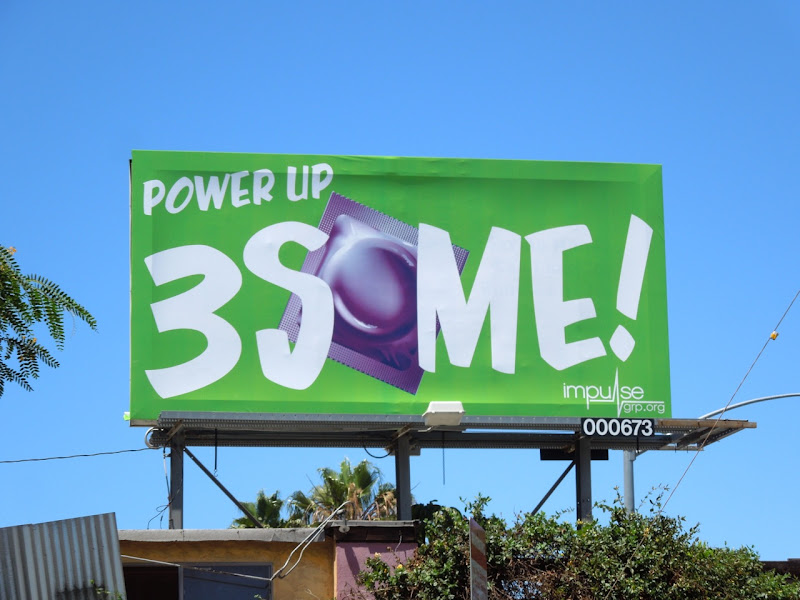 Power Up 3Some condom billboard