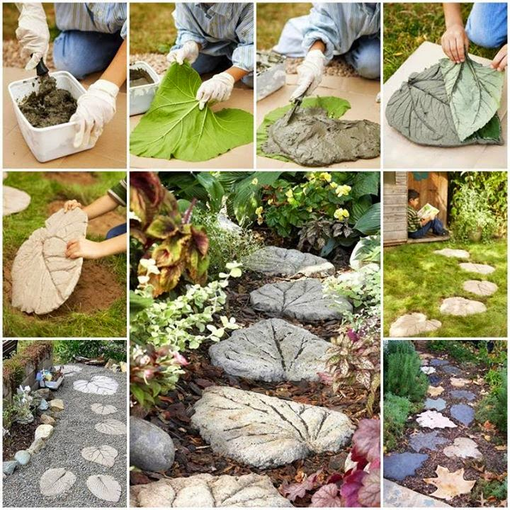Ideas amp Products Leaf Stepping Stones