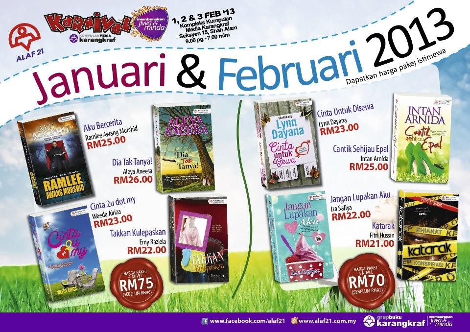 Pakej Novel Alaf 21 Januari Dan Februari 2013