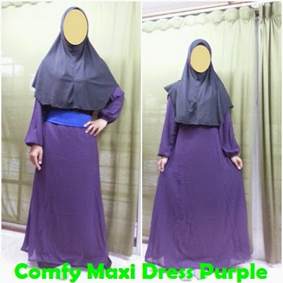 Colourful Comfy Maxi Dress JS1364 - Purple