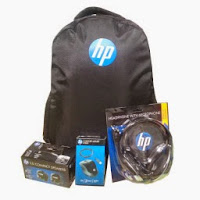 Buy HP Combo (Speaker, Headphone, Optical Mouse and BackPack) At 50% OFF