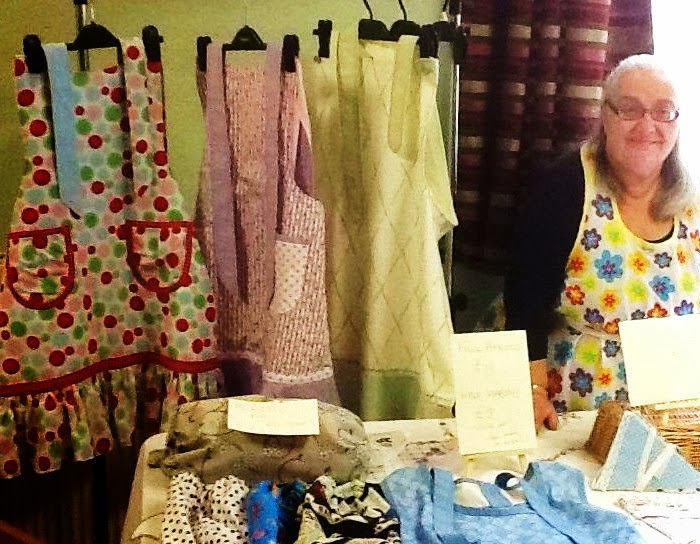 My stall with me behind it, ready to sell!