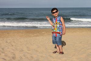 My 6-year-old nephew at Sa Huỳnh beach