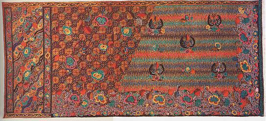 Batik Djawa baroe dengan pola Tirtateja dan Jlamprang