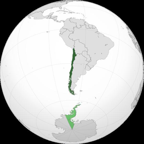 Localización de Chile en el Mundo