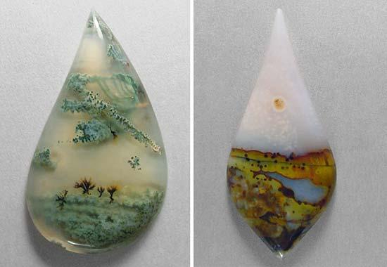 Indah, Batu-Batu Akik Ini Bercorak Pemandangan Alam