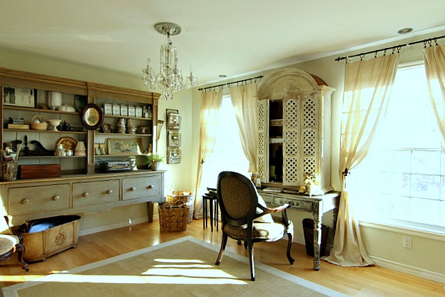 Maison decor french home office - Decoration bureau maison ...