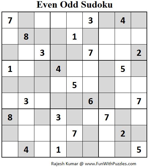 Even Odd Sudoku (Fun With Sudoku #67)