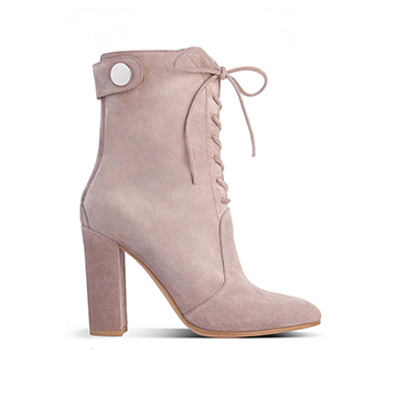 Gianvito Rossi lace up ankle boots in neutral color
