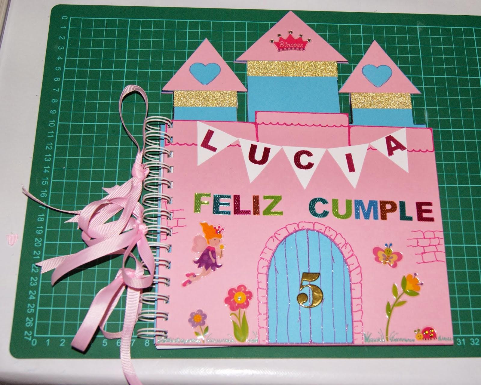 Infinity: Tutorial: Cuaderno para colorear. ¡Feliz Cumple Lucía! #2