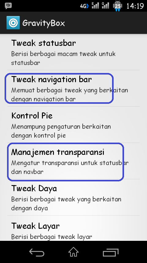 Cara Membuat/Mengaktifkan Tampilan Navbar Seperti Sony Xperia