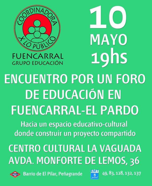 10 mayo Foro por la Enseñanza Pública