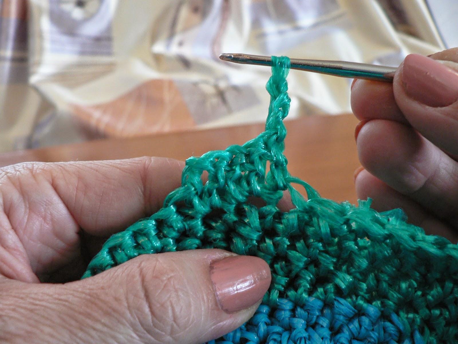 Вязание плоских мочалок