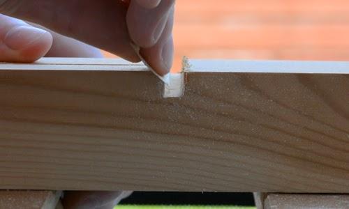 Sanding edges.