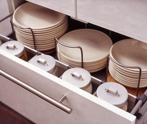 Design l e c rangement dans la cuisine les tiroirs for Rangement dans la cuisine
