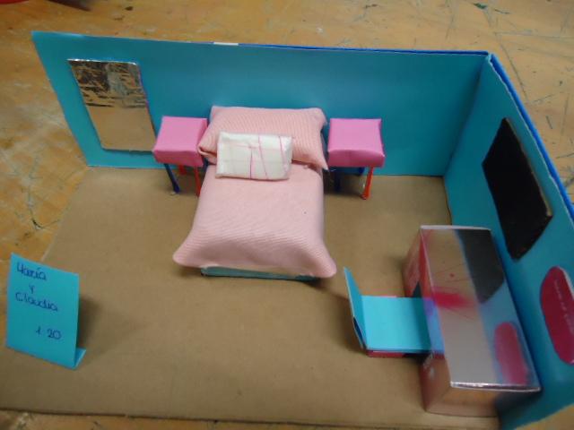 Tecnolog a en el aula maqueta de dormitorio a escala - Materiales para insonorizar una habitacion ...