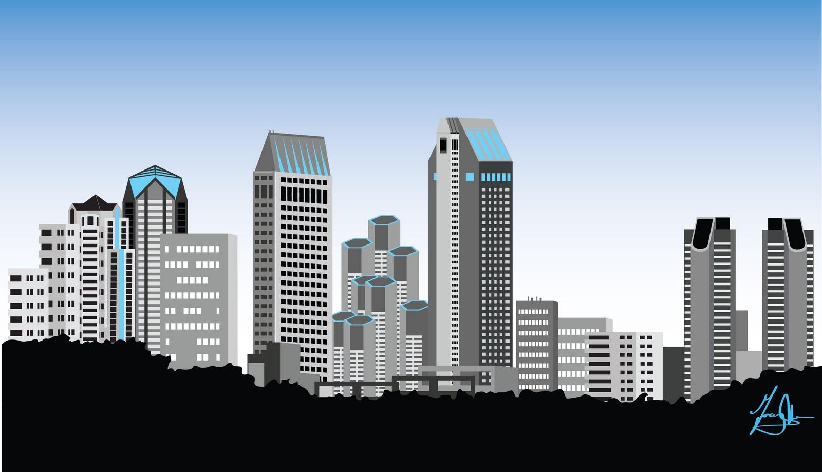 my city the san diego skyline